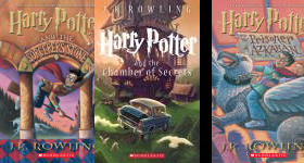 The Harry Potter  Publication Order Book Series By   J   K Rowling